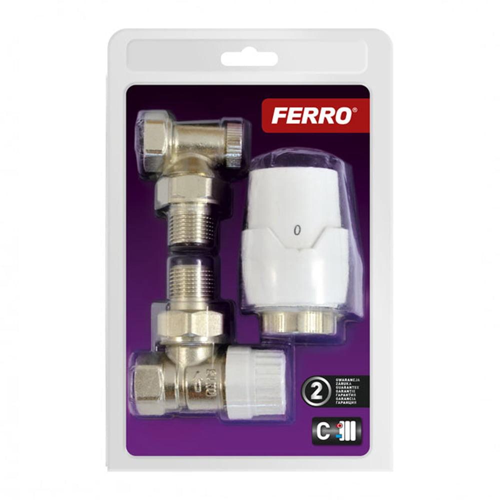 Komplet termostatyczny kątowy Ferro
