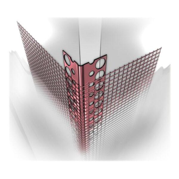 Narożnik aluminiowy z siatką Metpol