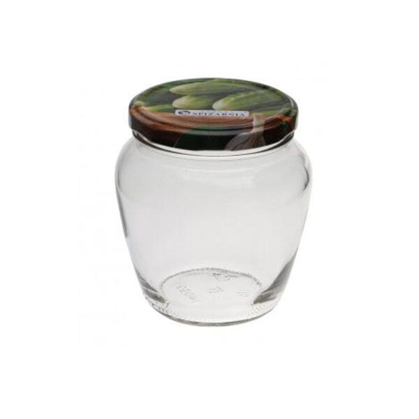 Słoik beczułka z wieczkiem na ogórki 4szt 0,55l Domex
