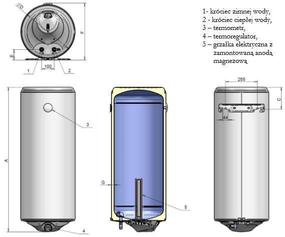 Elektryczny ogrzewacz wody Bianca