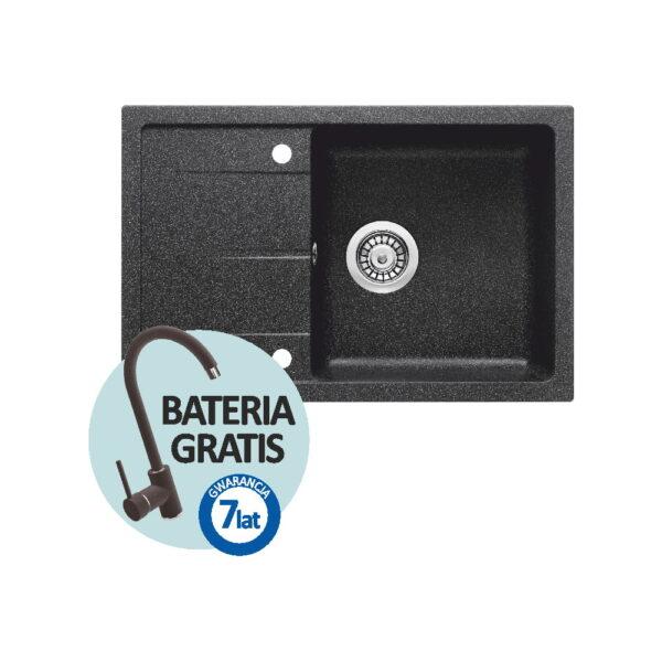 Zlewozmywak Deante granitowy 67x44 cm + bateria GRATIS